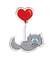 Cat with heart vector image
