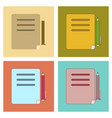 assembly flat icons notebook and pen vector image