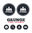 strike sign icon group of people symbol vector image
