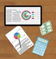 economic data on screen vector image