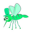 green mosquito vector image