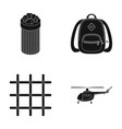 transport justice and other web icon in black vector image