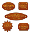leather sale badges vector image