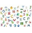Full alphabet letters set vector image vector image