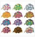 Big set of gift bows with ribbons vector image