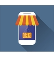Mobile phone Mobile store concept vector image