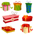 gifts set for valentines day vector image vector image