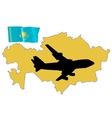 fly me to the Kazakhstan vector image