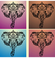 Ethnic patterned head of elephant vector image