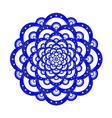 blue mandala vector image