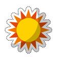 cute sun isolated icon vector image