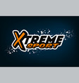 extreme sports logo winter sports vector image
