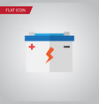 isolated battery flat icon accumulator vector image