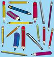 Pencil comics vector image