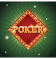 Poker frame of casino concept design vector image