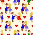 Seamless texture Valentines various figure Kids vector image