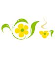Flower tea vector image vector image