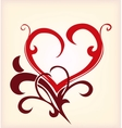 Decoration heart vector image vector image