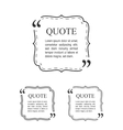 Quote Template In Vintage Frame Set Decorative vector image vector image