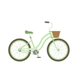 Stylish womens green bicycle isolated on white vector image