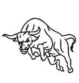 Bull 2 vector image