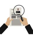Recruitment flat vector image