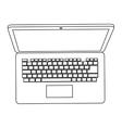 Laptop topview icon vector image