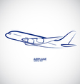 Airplane 5 vector image