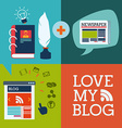 blog concept vector image