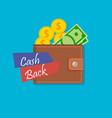 cash back wallet vector image