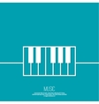 Icon piano keys vector image