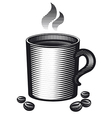 mug of coffee vector image