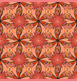 seamless floral pattern with flowers watercolor vector image