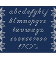 Christmas Knitted Font vector image