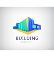 3d building logo business office icon vector image
