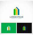 shape building realty colored company logo vector image