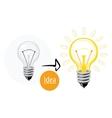 Idea concept with lightbulb vector image