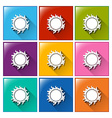 Buttons with sun vector image