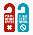 Please do not disturb vector image