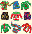 Ugly christmas sweaters vector