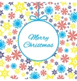 Bright colorful background with snowflakes vector image