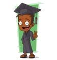 Cartoon happy Hindu student vector image