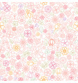 Floral seamless pattern flower icon gentle vector image