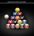 glossy pool ball vector image