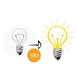 Idea concept with lightbulb vector image