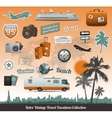 Travel icons symbol collection vector image