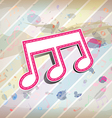 melody note label with pastel background vector image vector image
