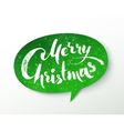 Green paper Merry Christmas banner vector image