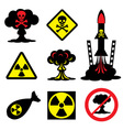 radiation hazard vector image