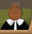 black judge in a courtroom vector image vector image
